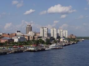 Обои Красноярск: Город, Здания, Города и вода
