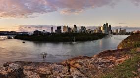 Обои Брисбен Австралия: Вода, Город, Мост, Остров, Города и вода
