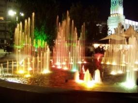 Обои Фонтан  Красноярск: Город, Ночь, Фонтан, Города и вода