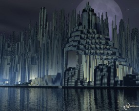 Обои Метрополис: Город, Метрополис, Города и вода