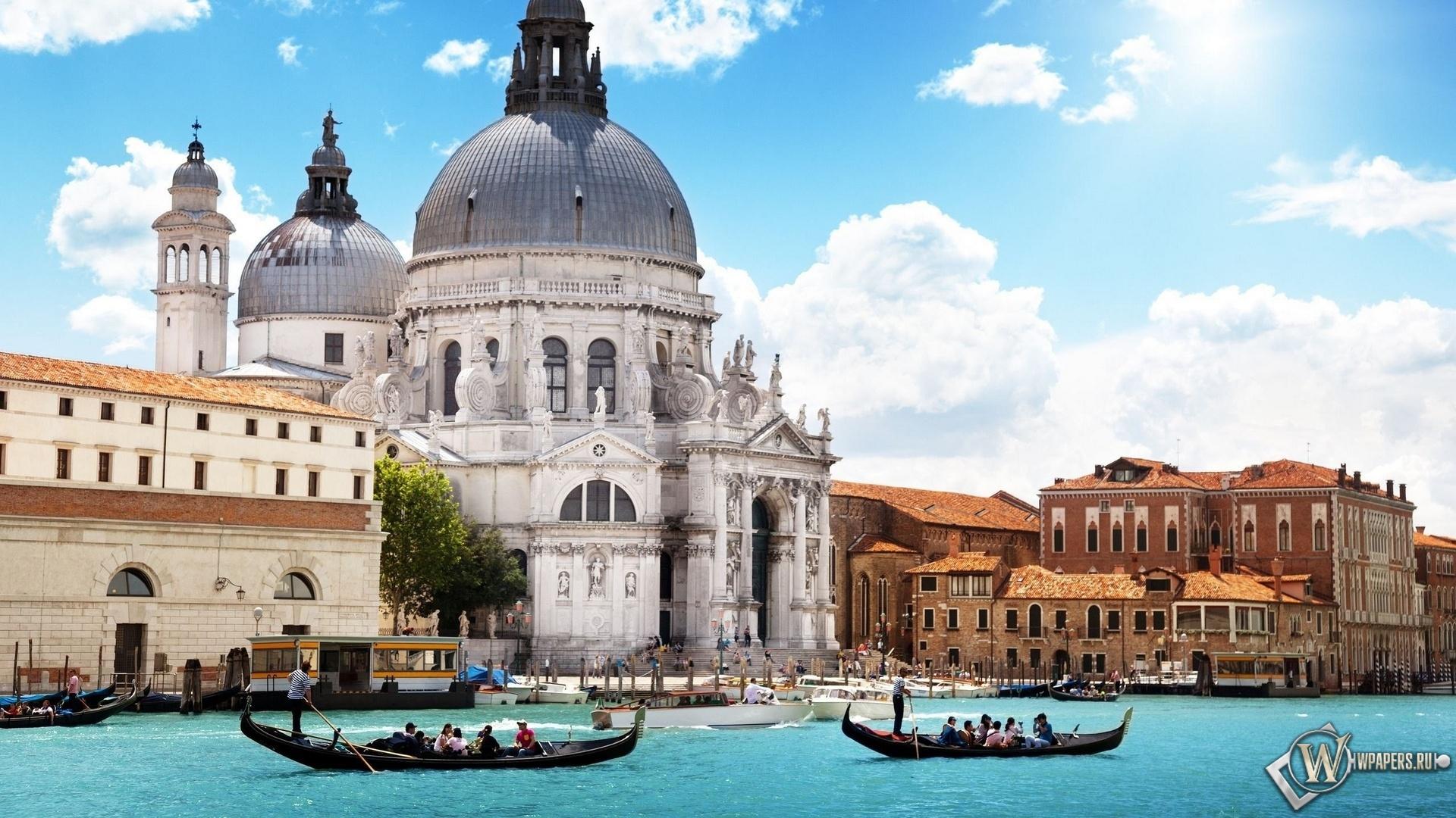 Собор Santa Mariya Della Salyute Венеция 1920x1080