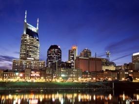Обои Nashville Skyline: , Города и вода