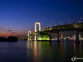 Обои Rainbow Bridge (Tokyo): Токио, Города и вода
