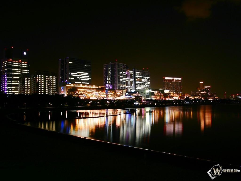 Ночной город 1024x768