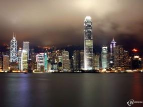 Обои Гонконг вид с воды: , Города и вода