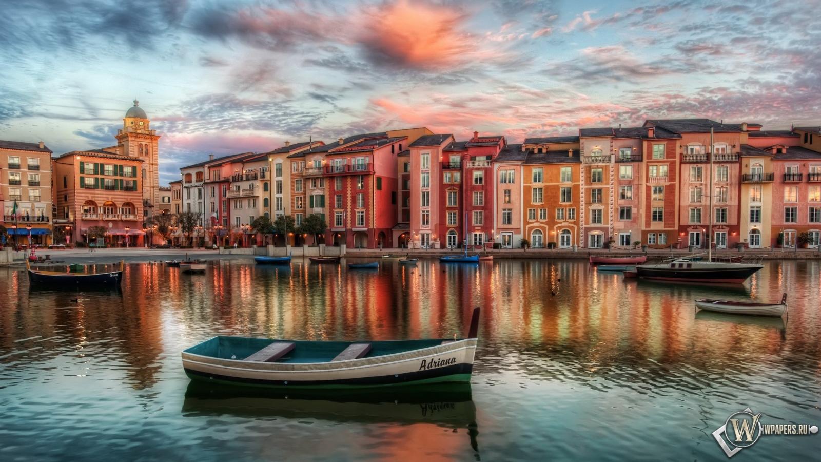 Обои тихое утро в венеции италия на