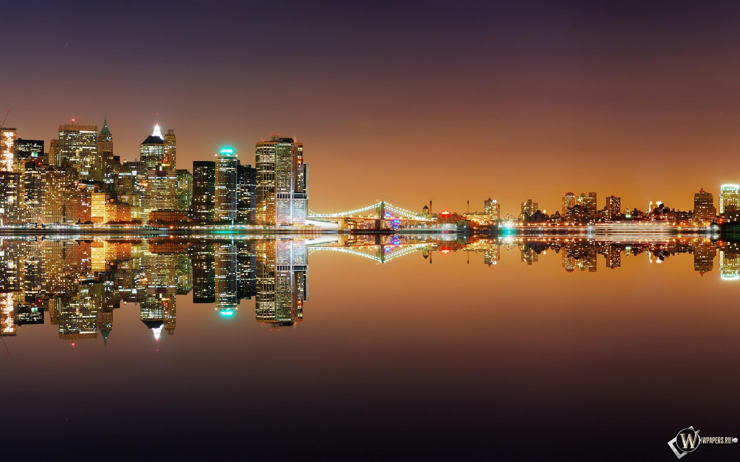Ночной город 2560x1600