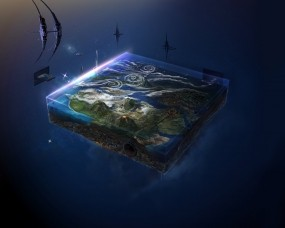 Обои Фабрика Миров (David Fuhrer): Космос, Фантастика, Колония, Фэнтези