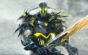 Обои Fantasy Diablo: Меч, Доспехи, Герой, Фэнтези