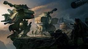 Обои Отряд роботов: Солдаты, Люди, Роботы, Фэнтези