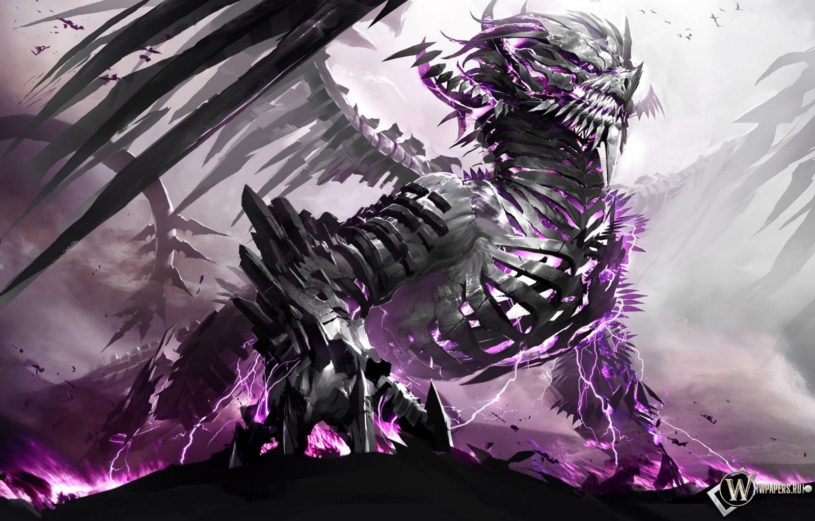 Обои зловещий дракон на рабочий стол с
