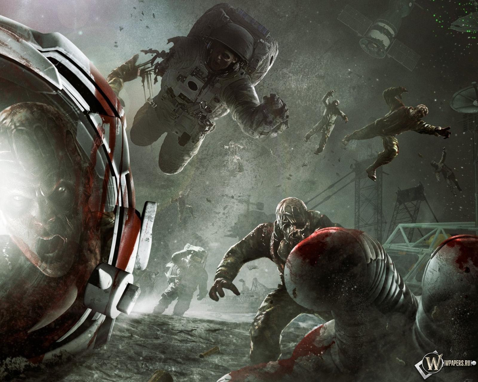 Обои зомби в космосе на рабочий стол с