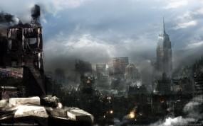 Обои Destroyed cities: Город, Разрушение города, City, Фэнтези