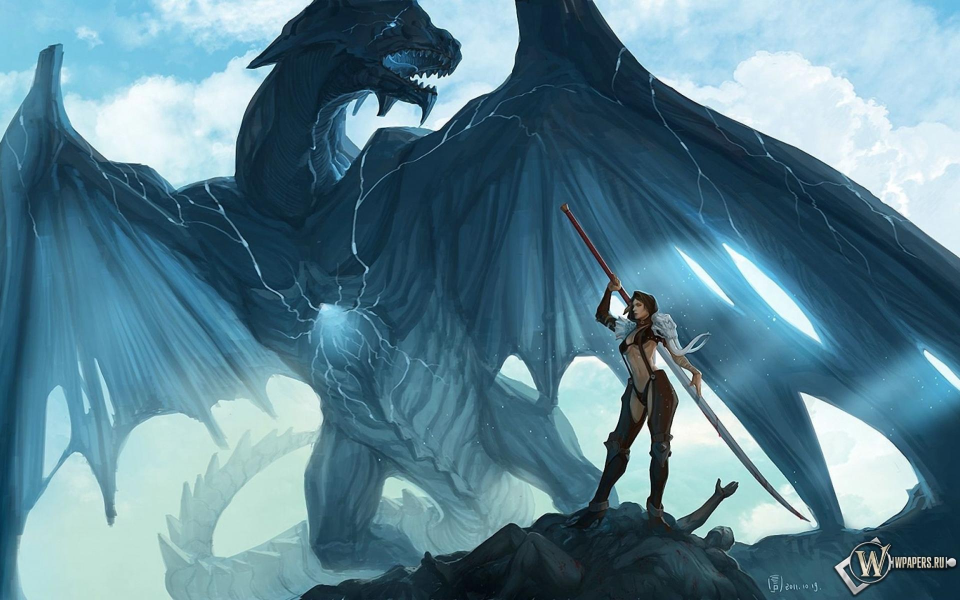 Обои на рабочий стол с драконом скачать бесплатно