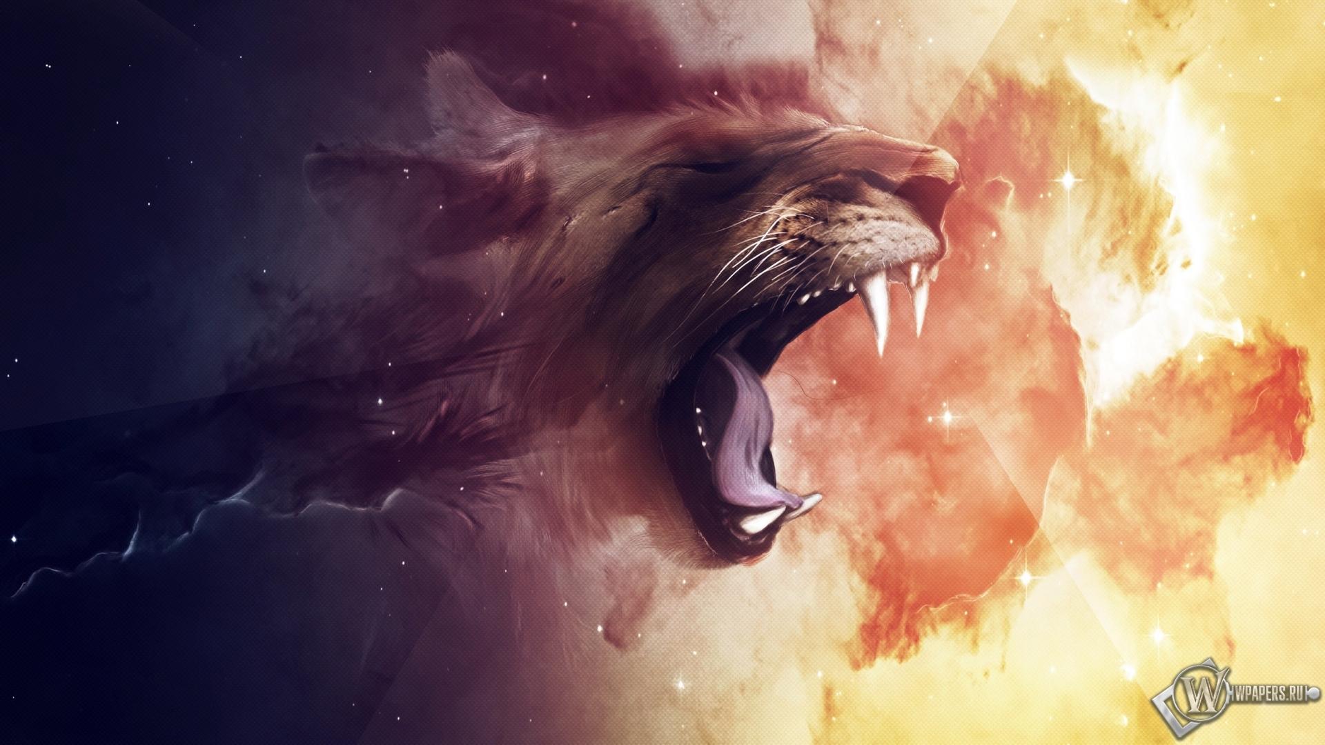 Lion абстракция лев 1920x1080 картинки