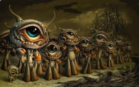 Обои Глазастики: Монстры, Инопланетяне, Фэнтези