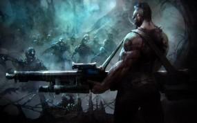 Обои Zombie Art: Оружие, Роботы, Зомби, Фэнтези