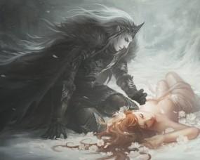Обои Эльф нашел свою принцессу: Роза, Красавица, Романтика, Эльф, Фэнтези