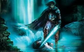 Обои Heroes of Annihilated Empires: Свет, Вода, Меч, Плащ, Магия, Фэнтези