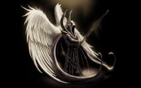 Обои Крылатый ангел: Оружие, Крылья, Меч, Ангел, Фэнтези