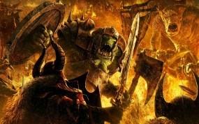 Обои Монстры: Огонь, Битва, Монстр, Фэнтези