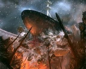 Обои Разрушение: Корабль, Авария, Плотина, Фэнтези
