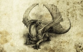Обои Дракон: Фэнтези, Дракон, Арт, Фэнтези