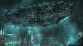 Обои Город под водой: Город, Океан, Фантастика, Корабль, Фэнтези