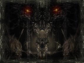 Обои Глаза во тьме: Глаза, Фэнтези, Дракон, Фэнтези