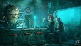 Обои Octopus diner: Вода, Осьминог, Фэнтези, Фэнтези
