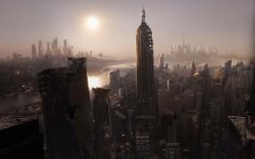 Обои Руины города: Город, Небоскрёбы, Катастрофа, Нью-Йорк, Фэнтези