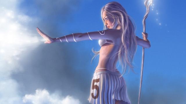 картинки аниме девушек ведьм: