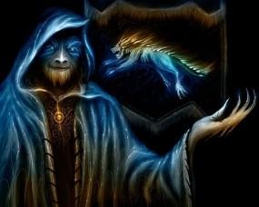 Обои Vitaly S Alexius: Фэнтези, Символ, Монстр, Флаг, Маг, Фэнтези