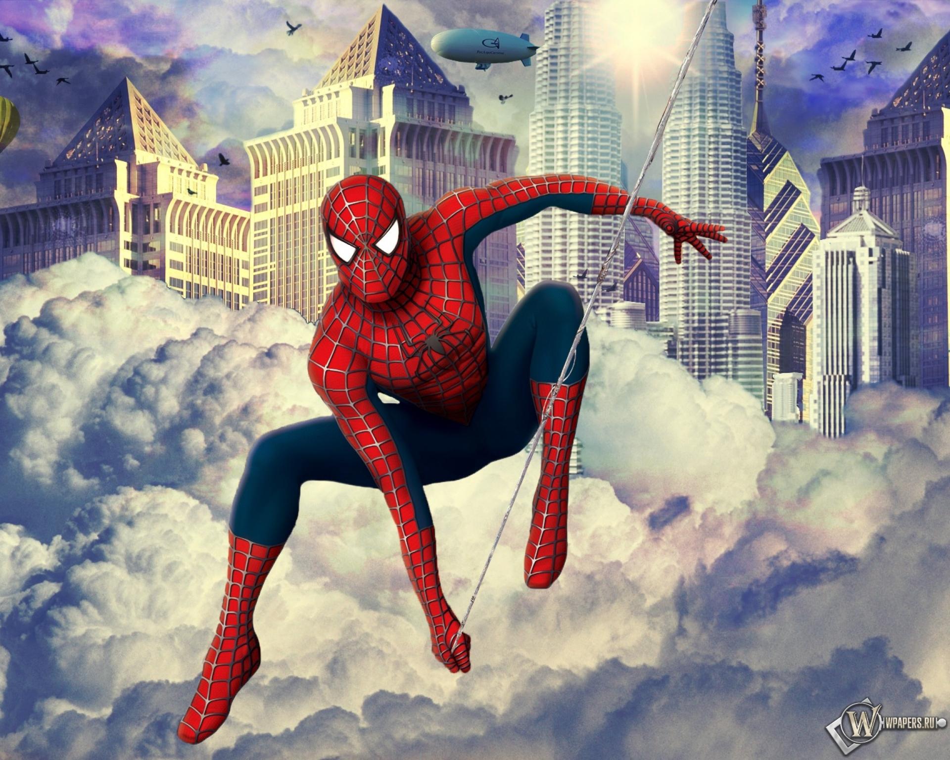 человек паук прыжок  № 3316446 бесплатно