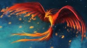 Обои Феникс: Огонь, Птица, Феникс, Фэнтези