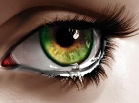Обои Плачущий глаз: Глаз, Ресницы, Слеза, Фэнтези