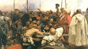 Обои Запорожцы пишут письмо турецкому султану: Картина, Илья Репин, Фэнтези