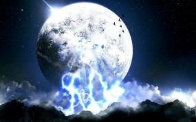 Обои Фантастическая энергия: Луна, Небо, Энергия, Мир, Фэнтези