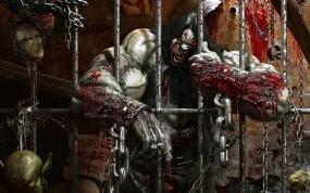 Обои заключенный: Кровь, Монстр, Тюрьма, Фэнтези