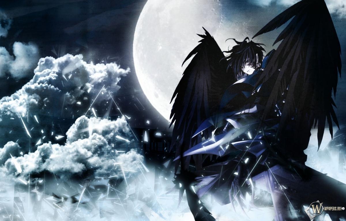 Луна небо чёрный 1200x768 картинки