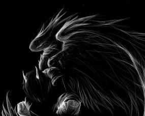 Обои Тёмный ангел: Чёрный, Крылья, Ангел, Фэнтези