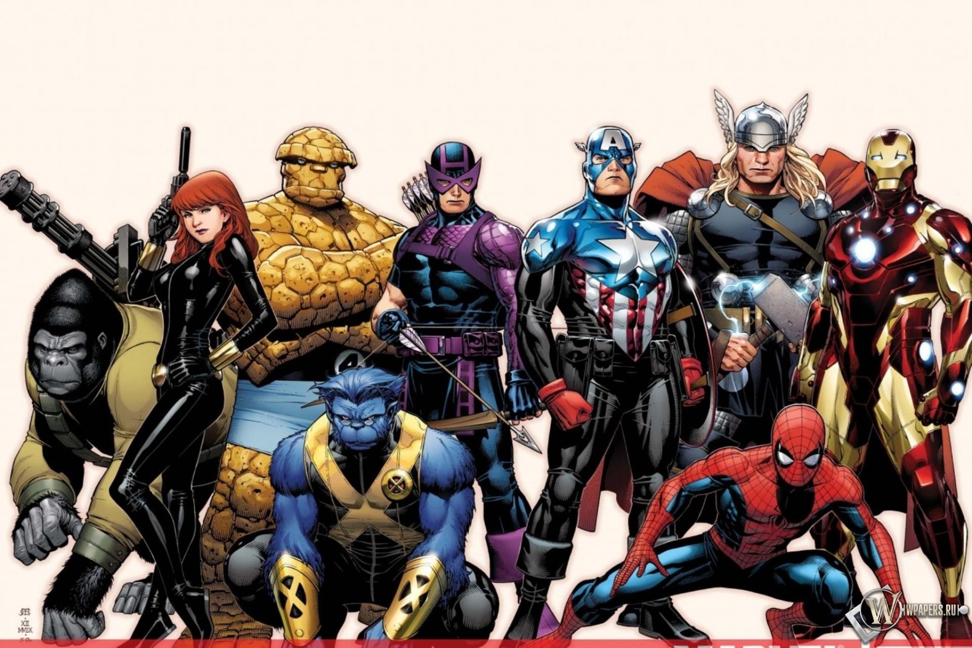 Обои Marvel на рабочий стол  artleocom