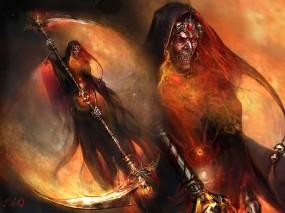 Обои Призрак с косой: Смерть, Коса, Нежить, Фэнтези