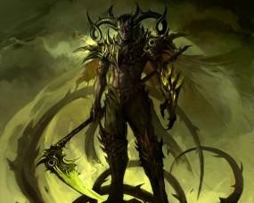 Обои Демонический Эльф: Эльф, Демон, Коса, Фэнтези