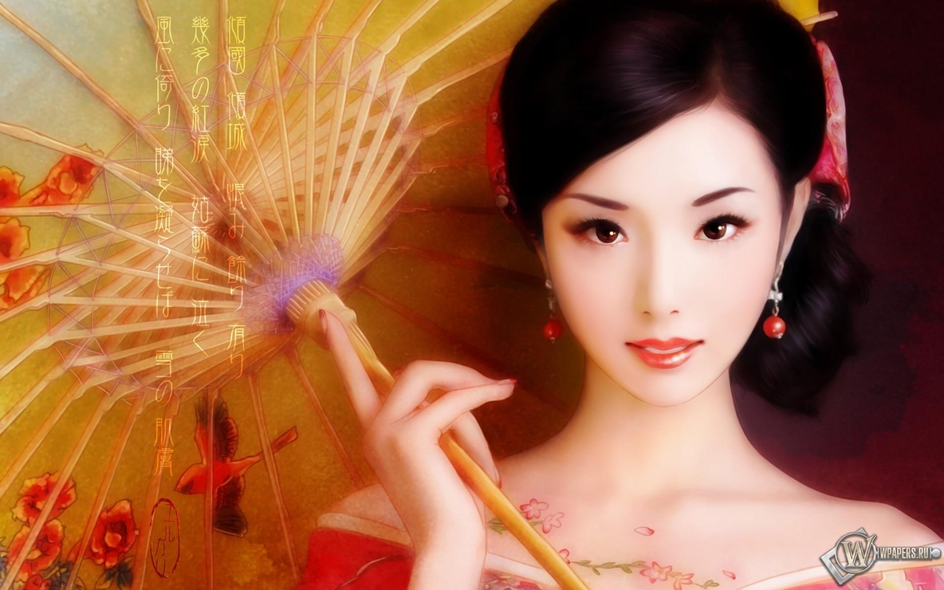Японский макияж 1920x1200