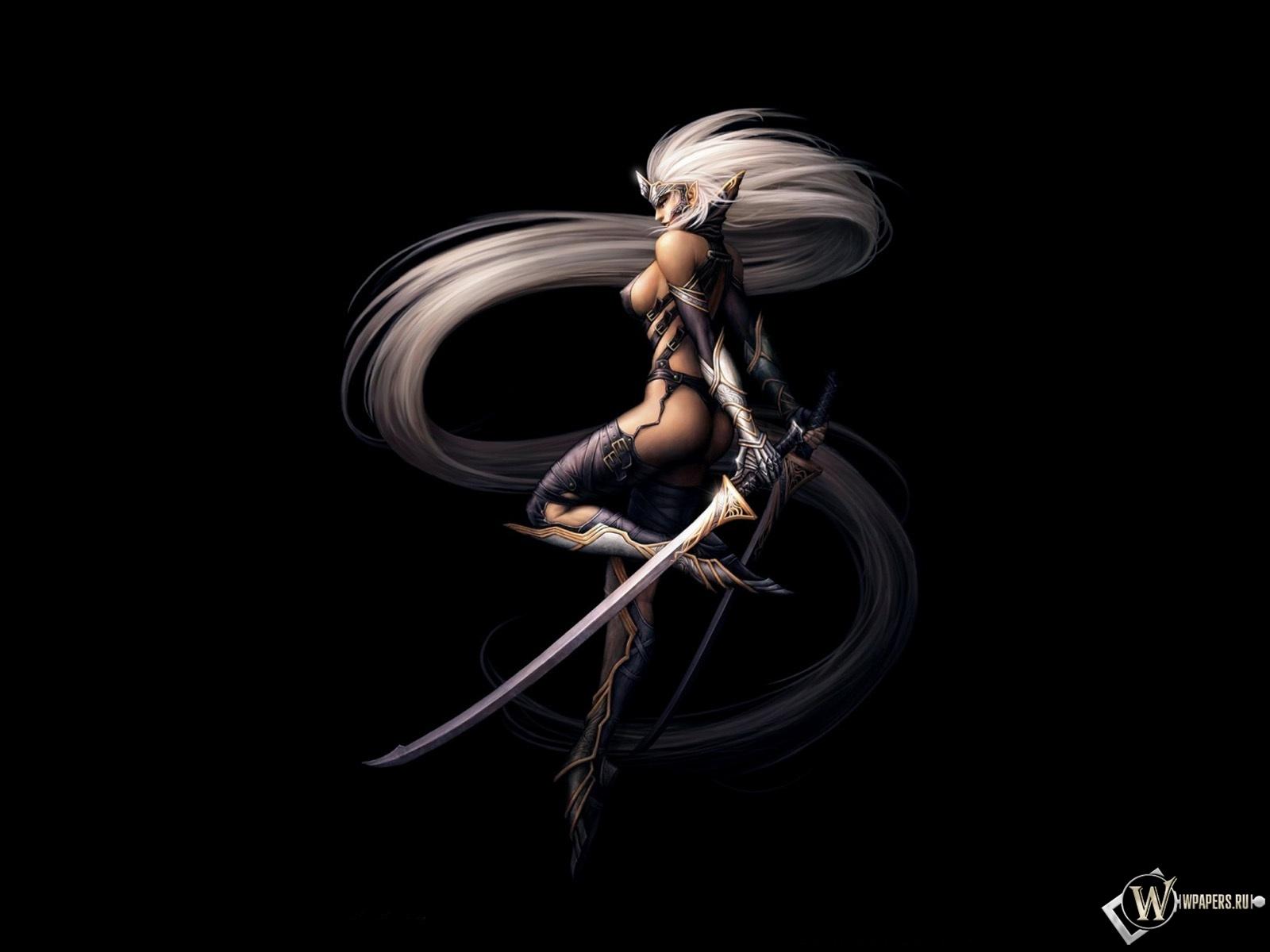 Эльфийка-воин 1600x1200