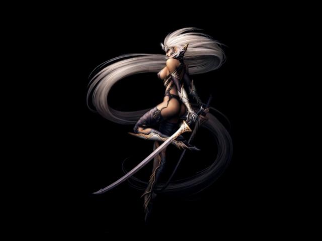Эльфийка-воин