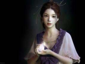 Обои Восточная красавица: Девушка, Взгляд, Фэнтези, Фэнтези - Девушки