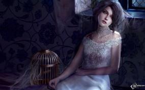 Обои Sad fantasy girl: Невеста, Fantasy girls, Фэнтези - Девушки