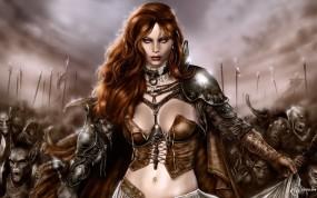 Обои Fantasy women: Fantasy girls, Воительница, Фэнтези - Девушки
